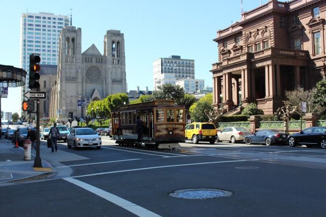 Grace Cathedral à Nob Hill et cable car © C. Doué, 2015